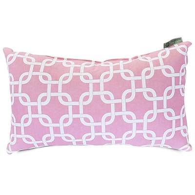 Majestic Home Goods Indoor Links Small Pillow, Soft Pink