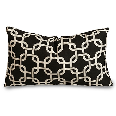 Majestic Home Goods Indoor Links Small Pillow, Black