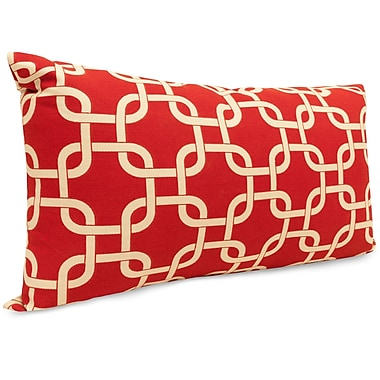 Majestic Home Goods Indoor/Outdoor Links Small Indoor/Outdoor Pillow, Red