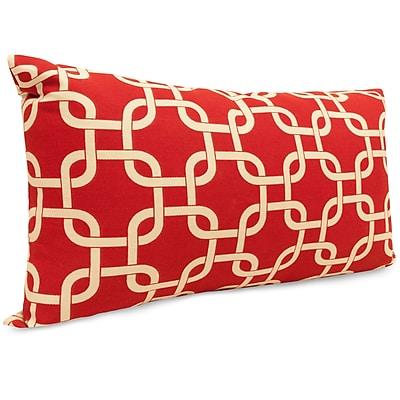 Majestic Home Goods Indoor/Outdoor Links Small Indoor/Outdoor Pillow, Red