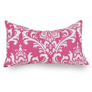 Majestic Home Goods Indoor French Quarter Small Pillow, Hot Pink
