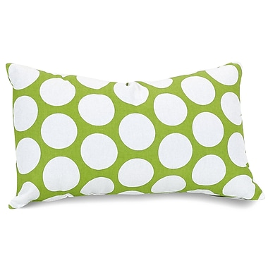 Majestic Home Goods Indoor Large Polka Dot Small Pillow, Hot Green