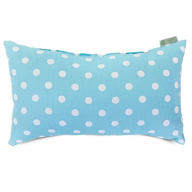 Majestic Home Goods Indoor Small Polka Dot Small Pillow, Aquamarine