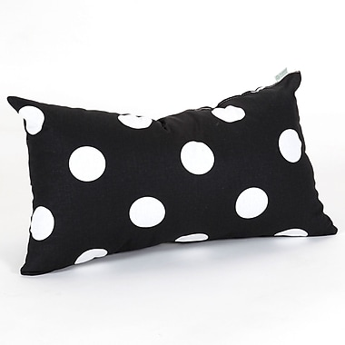 Majestic Home Goods Indoor Large Polka Dot Small Pillow, Black