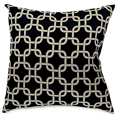 Majestic Home Goods Indoor/Outdoor Links Large Indoor/Outdoor Pillow, Black