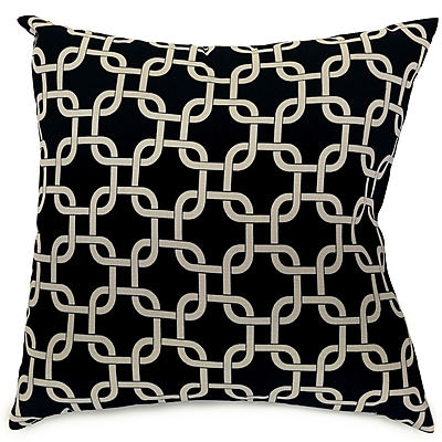 Majestic Home Goods Indoor Links Large Pillow, Black