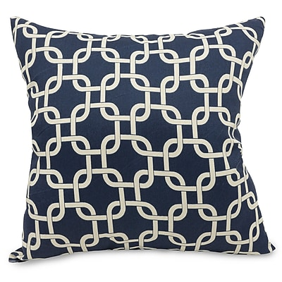 Majestic Home Goods Indoor Links Large Pillow, Navy Blue