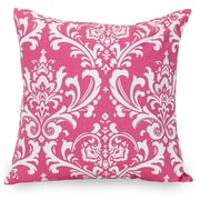 Majestic Home Goods Indoor French Quarter Large Pillow, Hot Pink