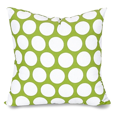 Majestic Home Goods Indoor Large Polka Dot Large Pillow, Hot Green