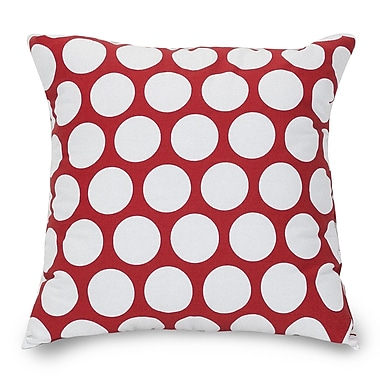 Majestic Home Goods Indoor Large Polka Dot Extra Large Pillow, Red Hot