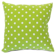 Majestic Home Goods Indoor Small Polka Dot Large Pillow, Lime