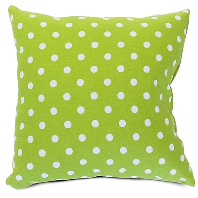 Majestic Home Goods Indoor Small Polka Dot Extra Large Pillow, Lime