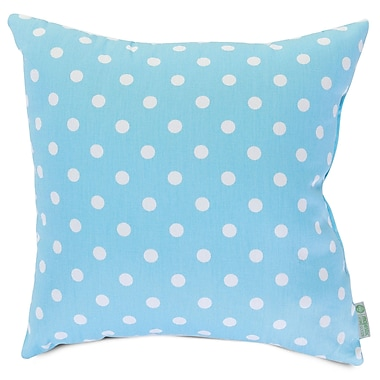 Majestic Home Goods Indoor Small Polka Dot Large Pillow, Aquamarine