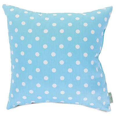Majestic Home Goods Indoor Small Polka Dot Extra Large Pillow, Aquamarine