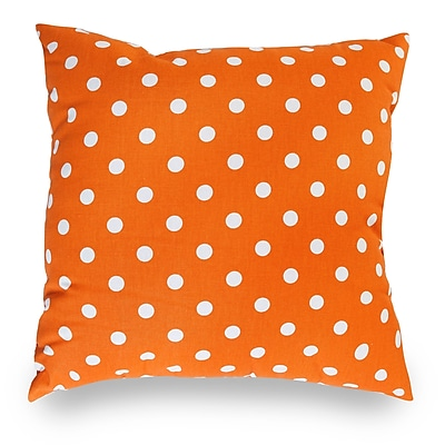 Majestic Home Goods Indoor Small Polka Dot Large Pillow, Tangerine
