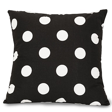 Majestic Home Goods Indoor Large Polka Dot Large Pillow, Black