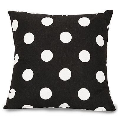 Majestic Home Goods Indoor Large Polka Dot Large Pillow, Black
