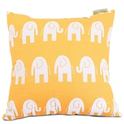 Majestic Home Goods Indoor Ellie Large Pillow, Yellow