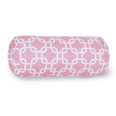 Majestic Home Goods Indoor Links Round Bolster Pillow, Soft Pink