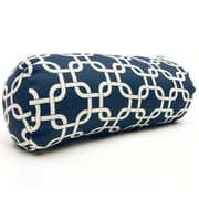 Majestic Home Goods Indoor Links Round Bolster Pillow, Navy Blue