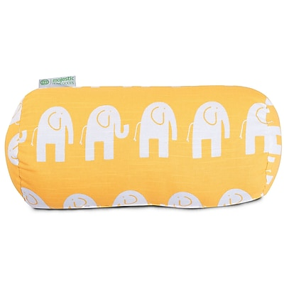 Majestic Home Goods Indoor Ellie Round Bolster Pillow, Yellow