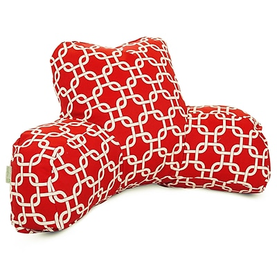 Majestic Home Goods Outdoor/Indoor Links Reading Pillow, Red