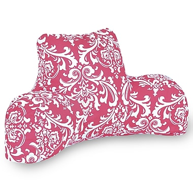 Majestic Home Goods Indoor French Quarter Reading Pillow, Hot Pink