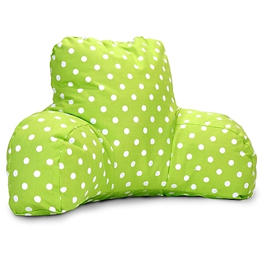 Majestic Home Goods Indoor Small Polka Dot Reading Pillow, Lime