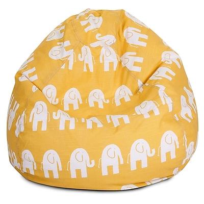 Majestic Home Goods Indoor Cotton Duck Bean Bag Chair, Yellow (85907214042)