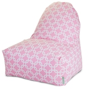 Majestic Home Goods Indoor Links Cotton Duck/Twill Kick-It Bean Bag Chair, Soft Pink