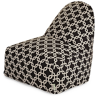 Majestic Home Goods Indoor Links Cotton Duck/Twill Kick-It Bean Bag Chair, Black