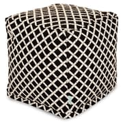 Majestic Home Goods Outdoor Polyester Bamboo Small Cube Ottomans