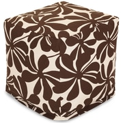 Majestic Home Goods Outdoor Polyester Plantation Small Cube Ottomans