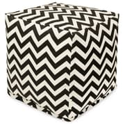 Majestic Home Goods Outdoor Polyester Chevron Small Cube Ottomans
