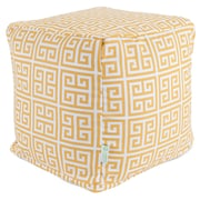 Majestic Home Goods Outdoor Cotton Duck/Twill Towers Small Cube Ottomans