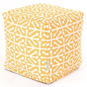Majestic Home Goods Outdoor Cotton Duck/Twill Aruba Small Cube Ottomans