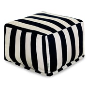 Majestic Home Goods Outdoor Polyester Vertical Stripe Large Ottomans