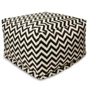 Majestic Home Goods Outdoor Polyester Chevron Large Ottomans