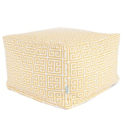 Majestic Home Goods Outdoor Polyester Towers Large Ottoman, Citrus
