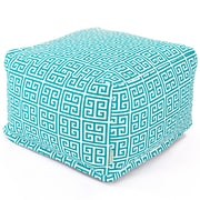Majestic Home Goods Outdoor Polyester Towers Large Ottoman, Pacific