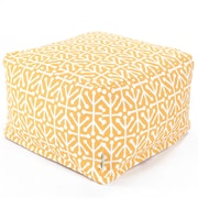 Majestic Home Goods Outdoor Polyester Aruba Large Ottomans