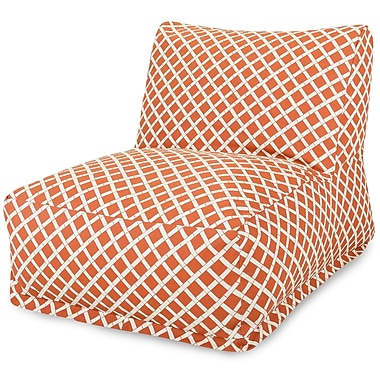 Majestic Home Goods Outdoor Polyester Bamboo Bean Bag Chair Lounger, Burnt Orange