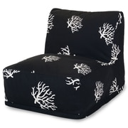 Majestic Home Goods Outdoor Polyester Coral Bean Bag Chair Loungers