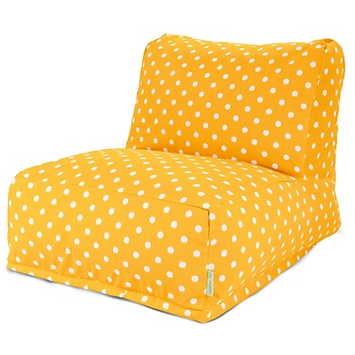 Majestic Home Goods Outdoor Polyester Ikat Dot Bean Bag Chair Lounger, Citrus