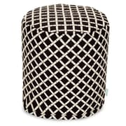 Majestic Home Goods Outdoor Polyester Bamboo Small Pouf Ottomans