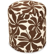 Majestic Home Goods Outdoor Polyester Plantation Small Pouf Ottomans