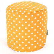 Majestic Home Goods Outdoor Polyester Ikat Dot Small Pouf Ottomans