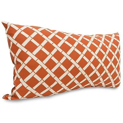Majestic Home Goods Indoor/Outdoor Bamboo Small Pillow, Burnt Orange