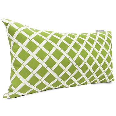 Majestic Home Goods Indoor/Outdoor Bamboo Small Pillow, Sage