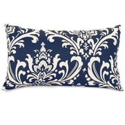 Majestic Home Goods Indoor/Outdoor French Quarter Small Pillow, Navy Blue
